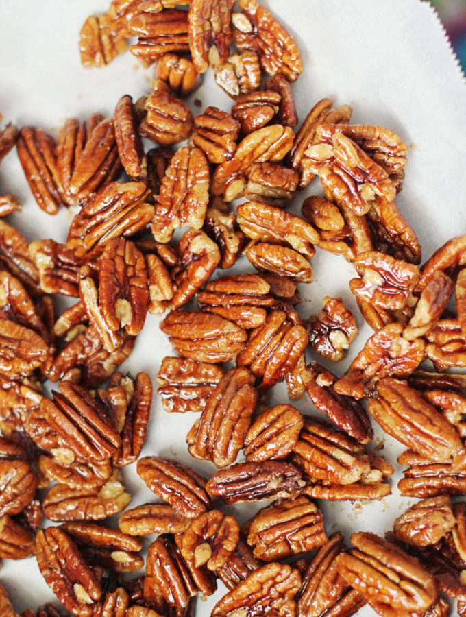 Maple Cinnamon Candied Pecans
