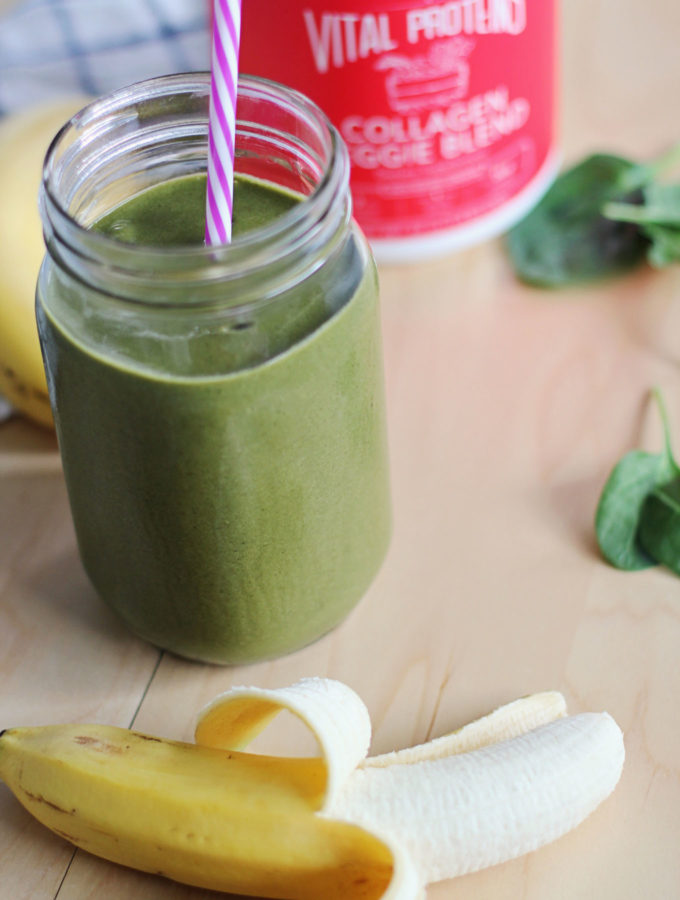 Vital Proteins Collagen Veggie Blend and a Green Smoothie Recipe